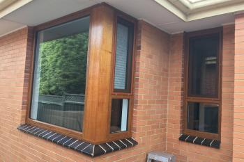 Corner double glazed tilt and turn windows in Melbourne